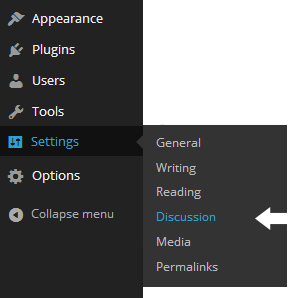 Figure 1: Settings menu