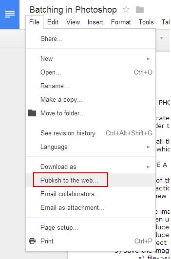 gdoc_publish