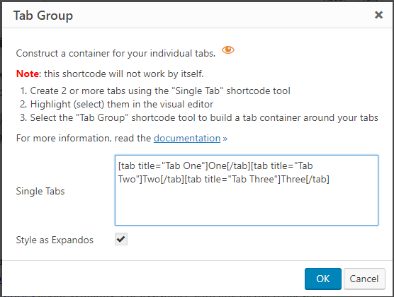 Meerkat16 Tab Group Dialog