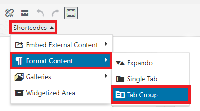 Tab Group menu location
