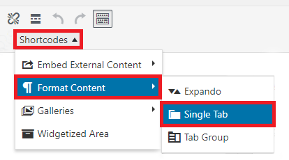 Tab menu location