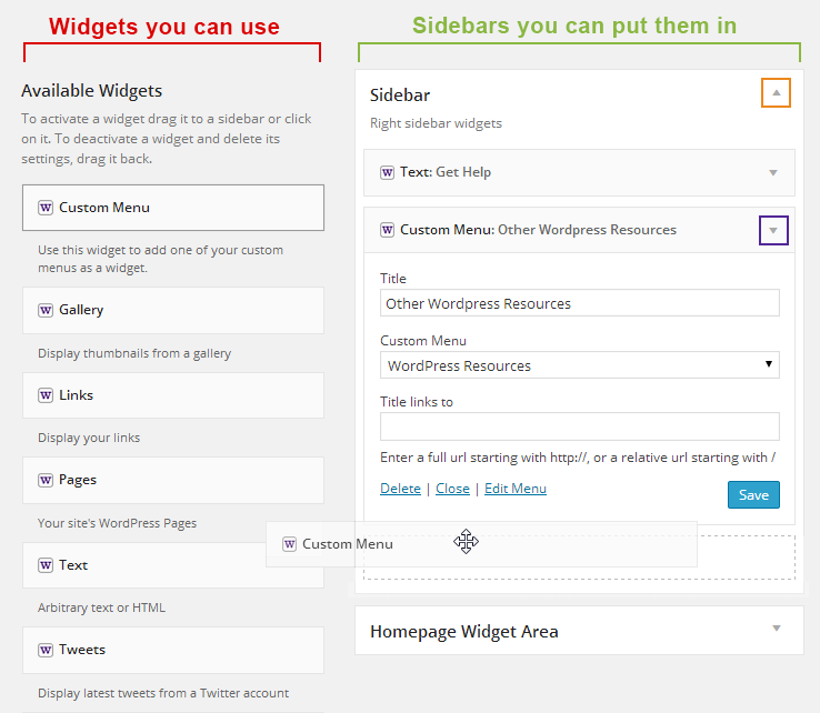 widget-interface